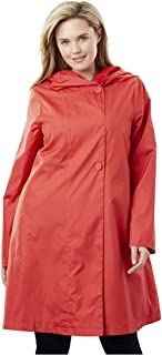 0f33978d9b4 Woman Within Plus Size Packable Hooded Raincoat