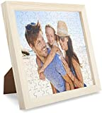 Louisleo Puzzle Personalizado con Tu Foto Adulto de Madera 1000 500 120 Piezas - Diseño Desde Cualquier Imagen Rompecabezas Boda Inolvidable + Poster Original
