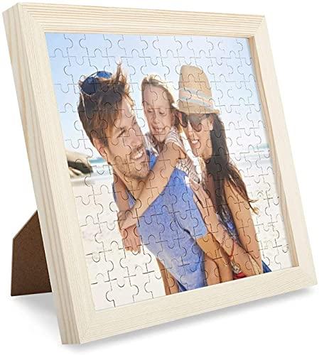 Louisleo Puzzle Personalizzato con Foto Adulti in Legno 1000 500 120 Pezzi - Grandi Jigsaw Puzzles da Qualsiasi Tua Foto Immagine Indimenticabile Regalo di Natale + Poster Originale