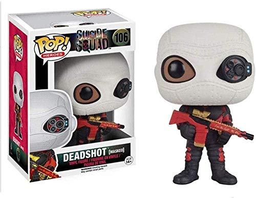 MEIQI Film Suicide Squad-Harley Deadshot Pop Shape Suicide Squad Toy per collezionisti Giocattoli 10CM