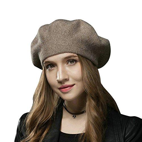 FLY HAWK Gorro Beanie Mujer Invierno Sombrero Lana para Mujer - Gorros Francesa Lana Vintage, Bucket Felt Beret Fiesta Invierno Otoño