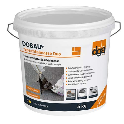 Bitumen Spachtelmasse Duo 5 kg von Dobau lösemittelfrei