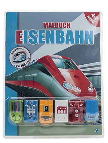Malbuch mit Fahrzeuge 'Eisenbahnen'
