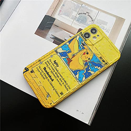 DDNJSGLJ Pokemon Cool Anime Design Pattern Pikachu Cute Elf Fun Ultra-Thin Phone Case Cover,Compatible Apple for iPhone 11 12 PRO XS Max XR X 7 8 6 Mini Plus SE 2021-A02_for iPhone 8