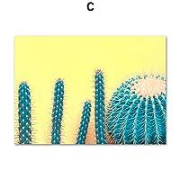 キャンバスアートプリントカラフルボーイサボテン北欧植物ポスター&プリントウォールアートキャンバス絵画キッズウォール写真リビングルームの装飾-40x60cmフレームなし