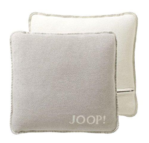 JOOP!Kussen Uni-Doubleface kussensloop kleur veer-ecru grootte 50x50 cm