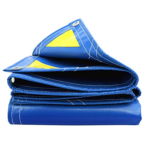 DGLIYJ- Abdeckplanen 450 G / ㎡ Paño Suave para Raspar con Cuchillo Lona Impermeable para Exteriores Sombrilla para Exteriores Y Aislamiento Térmico Lona Resistente Al Desgaste (Azul)(Size:2x3m)