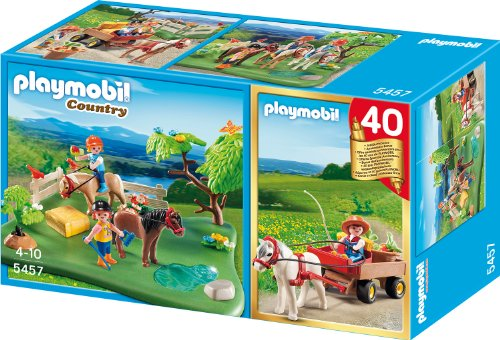Playmobil 5457 - Jubiläums-Kompakt Set Ponykoppel mit Ponywagen