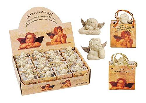 MC Trend 24 Ange blanc dans présentoir ange gardien dans pochette cadeau porte-bonheur figurine cadeau pour invités