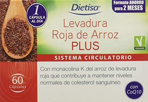 Dietisa - Levadura roja de arroz Plus - 60 cápsulas 43 gr