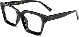 FEISEDY نظارات Opra مربعة كلاسيكية بدون وصفة طبية إطار نظارة سميك للنساء B2461