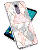 LG Stylo 4 Hülle, LG Q Stylus Hülle, Lovemecase Marmor Design Klar Bumper TPU Soft Case Gummi Silikon Skin Cover für LG Stylo 4 LG Q Stylus, Shiny Marble