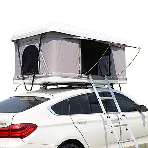 Tienda de techo, ABS duro superior coche protector solar impermeable semi-automático de la carpa del coche de la cima de la cama móvil, protección UV,Cama portátil Desert Snow Mountain (sin coche)