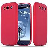 Cadorabo Funda para Samsung Galaxy S3 / S3 Neo en Candy Rojo - Cubierta Proteccíon de Silicona TPU Delgada e Flexible con Antichoque - Gel Case Cover Carcasa Ligera