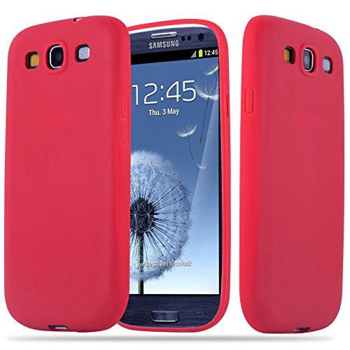 Cadorabo Custodia per Samsung Galaxy S3 / S3 NEO in CANDY ROSSO - Morbida Cover Protettiva Sottile di Silicone TPU con Bordo Protezione - Ultra Slim Case Antiurto Gel Back Bumper Guscio