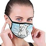 CZLXD - Máscara Antipolvo de Perro Samoyed Antipolvo, máscara de Boca anticontaminación para Hombre y Mujer