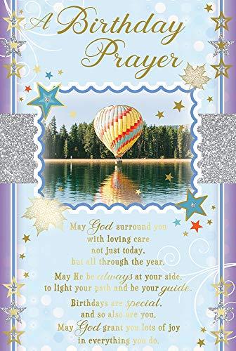 Glückwunschkarte zum Geburtstag mit religiösem Gedicht – Luftballon