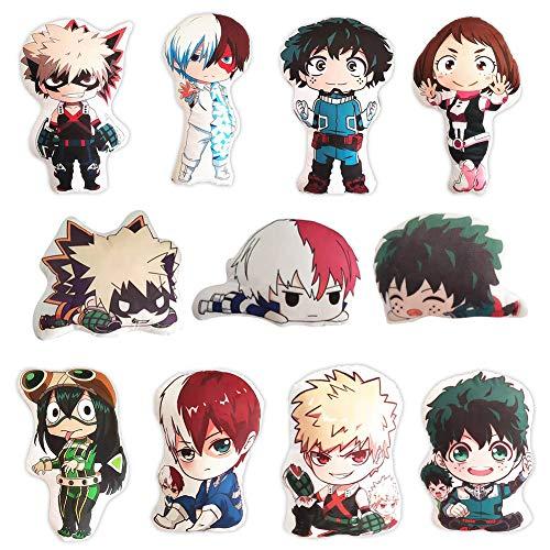 Saicowordist My Hero Academia Anime Karikatur Plsch Keychain Anhnger Plsch Nette Anime Charaktere Puppe Zubehr Anime Fans Geschenk(11PCS)