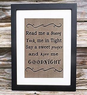 Read me a story Good night poem Nursery wall art - Nursery Wall Art Print, Kids Wall Art, Kiss me Good night, Children Room Decor