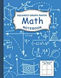 Graph Paper Math Squared Notebook: Graph Paper For Kids Large 1/2 Inch Squares (Graph Paper Notebook 1/2 Inch Squares)