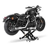Ponte Sollevatore moto ConStands Mid-Lift XL nero per Harley Davidson Rocker/C (FXCWC)/(FXCW), Softail Bad Boy (FXSTB), Softail Blackline (FXS), Softail Custom (FXSTC)