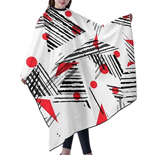 GAHAHA Delantal de salón de belleza japonés, diseño de triángulos, capa de corte de pelo, barbería, vestido de peluquería y tela teñida para proteger el cabello, delantal duradero de 140 x 168 cm