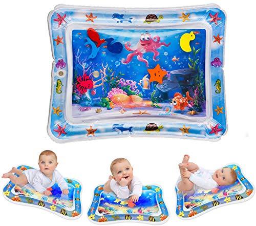 Alfombra Inflable con Agua, Alfombra de Juego de Agua para Bebé, Tummy Mat para Bebés, Centro de Actividades Divertidas para La Estimulación del Crecimiento de Su Bebé (66 x 50cm)
