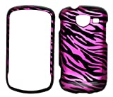 Hot Pink Zebra Snap on Protective Cover Case for Samsung BrightSide u380 + Microfiber Pouch Bag
