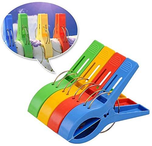 N/X Strandtuch Clips, 8 Große Winddichte Kunststoff-Badetuch-Clips, Quilt Clamps Wäscheklammern für Pool-Stühle, Wäsche, Sonnenliegen und Liegestühle