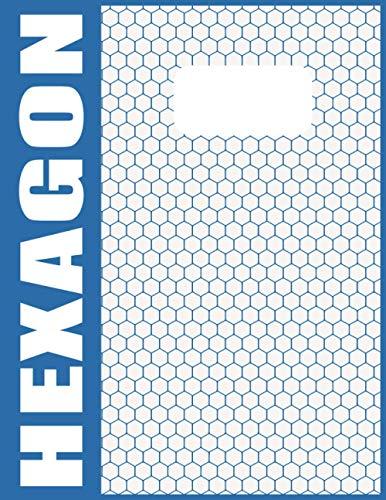 Hexagon Papier Notizblock A4 - 120 Nummerierte Seiten Mit Grauen Linien