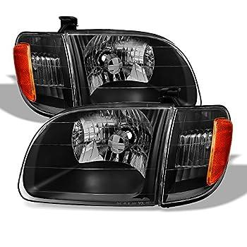 ACANII - For Blk 2000-2004 Toyota Tundra Regula/Access Cab Headlights Headlamp Driver + Passenger Side