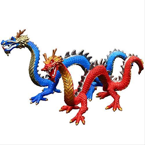 SUPERHUA Juguete de Animales de simulación para niños, Juego de Modelos de Vida Silvestre, Pieza de Regalo de Fénix de dragón Chino Shenlong