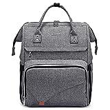 LOVEVOOK Mochila de mujer para la escuela   Elegante mochila impermeable para portátil de 15,6 pulgadas con compartimento para portátil y bolsillo antirrobo [1-gris -15.6 pulgadas]