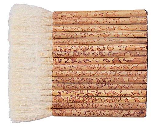 Yasutomo Sheep Hair Short Bamboo Handle Hake Brush, 5-1/2 in