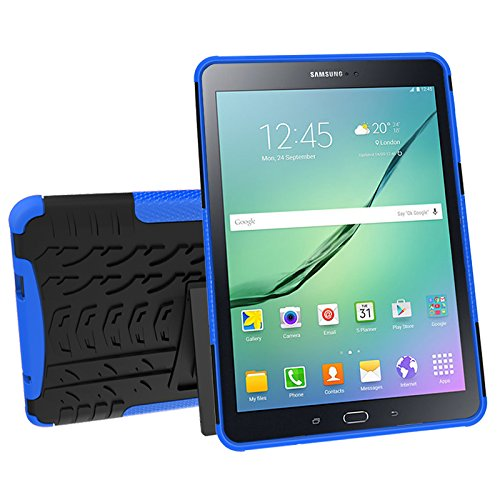 Galaxy Tab S2 9.7 (SM-T810 / T815 / T813) Case, YMH Full-Body [Heavy Duty] & [Shock Proof] Hybrid Armor Protective Silicone Case with Kickstand for Samsung Galaxy Tab S2 9.7 (2)