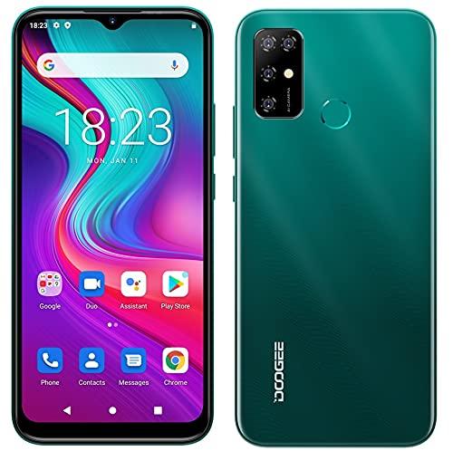Android 11 Cellulare Offerta DOOGEE X96 PRO, Octa Core 4GB + 64GB, Batteria 5400 mAh, Fotocamera Quadrupla 13MP, Schermo Waterdrop 6,52'', Smartphone DUAL SIM + SD (3 Slot), Impronta Digitale Verde