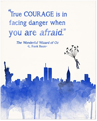 True Courage Children's Literature Inspirational Quote Poster for Home, Classroom or Library Featuring a Beloved Wizard of Oz Quote