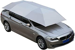 Nfudishpu Car Tent Cover Fully Automatic Movable Carport Folded Portable Car Umbrella Cover Automobile Protection Anti-Uv Canopy Sunproof Sun Shade Canopy Cover Shelters SUV Sedan