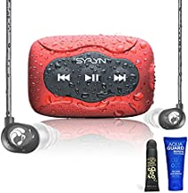 SYRYN Swimbuds Flip Bundle | 8 GB Waterproof Music Player Compatible with iTunes Files (No Apple Music)