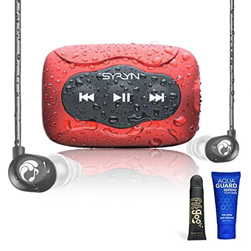 SYRYN Swimbuds Flip Bundle | 8 GB Waterproof Music Player Compatible...