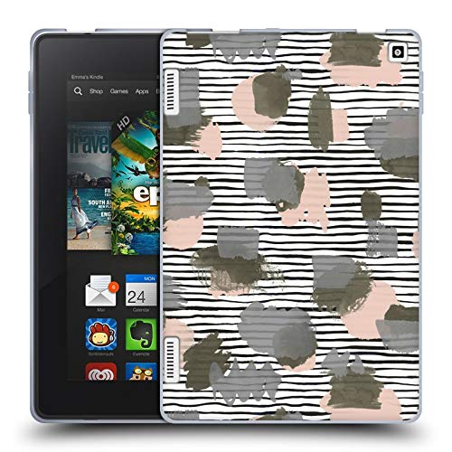 Head Case Designs Officially Licensed Ninola Green Beige Geometric 2 Soft Gel Case Compatible with Amazon Fire HD 7