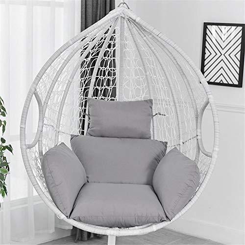 Opfury Hamaca colgante cojín Patio jardín columpio balancín de ratán, silla hamaca de huevo, asiento de columpio, cojín grueso nido, silla colgante para interior y exterior, patio yard jardín