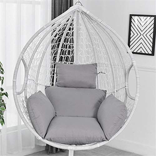 Dubleir Hanging Egg Chair Cushions, Wicker Rattan Hanging Seat Cushion, Ergonomic Design Hanging Basket Seat Cushion, With Non-slip Straps, Not Easily Deformable (only With Seat Cushion)