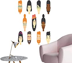 SeptSonne Wall Stickers for Living Room hu Faces Express Emotions Vinyl Wall Stickers Print,24