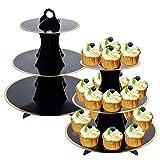 2 Pcs 3-Tier Cupcake Holder Cardboard Cupcake...