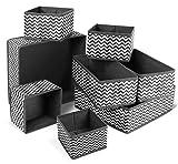 Libershine 8PCS Caja de Almacenamiento de Tela, Tela Plegable, Apto para aparadores, cajones y armarios, Cajas de Almacenamiento Flexibles,Cajas Organizadoras para Cajón