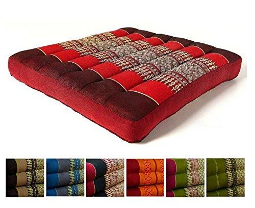 livasia Kapok Sitzkissen 35x35x6,5cm Der Marke, Otimal Als Stuhlauflage Oder Meditationskissen, Bodenkissen, Stuhlkissen (Pink)