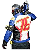 DAZCOS US Size Quality Leather Soldier76 Cosplay Jacket / Gloves (Large, Jacket and Gloves)