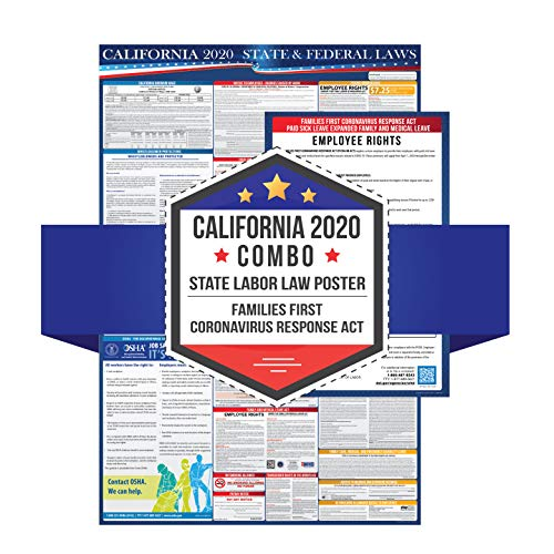 2020 California Labor Law Poster with Families First Coronavirus Response Act Notice