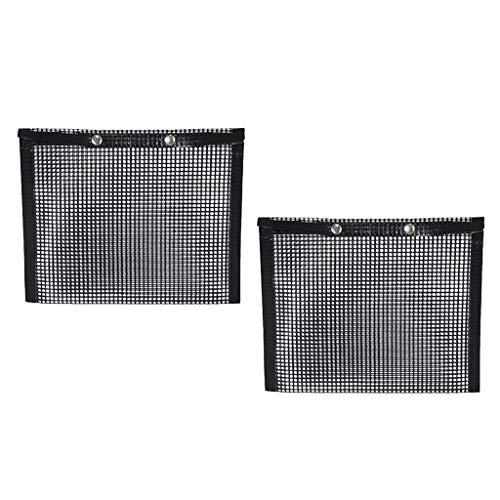 Save %23 Now! FLAMEER 2Pcs Non-Stick Mesh Grilling Bag - High Temperature Barbecue Sheets Pockets - ...